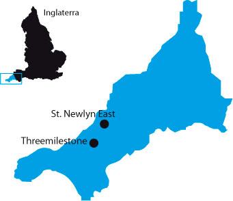 Mapa Cornwall